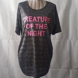 Creature of the Night Oversized Graphics Shirt
